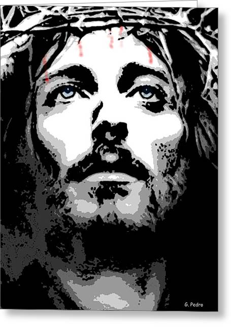 Jesus Christ Icon Digital Greeting Cards - Crown of Thorns Greeting Card by George Pedro