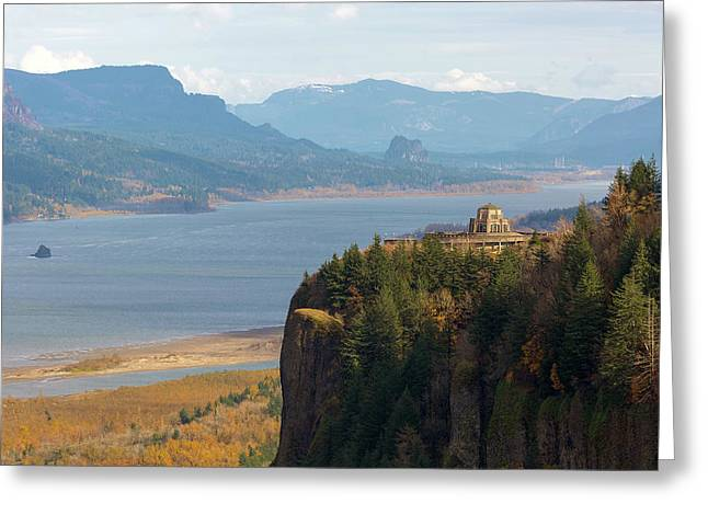 Crown Point On Columbia River Gorge Greeting Card
