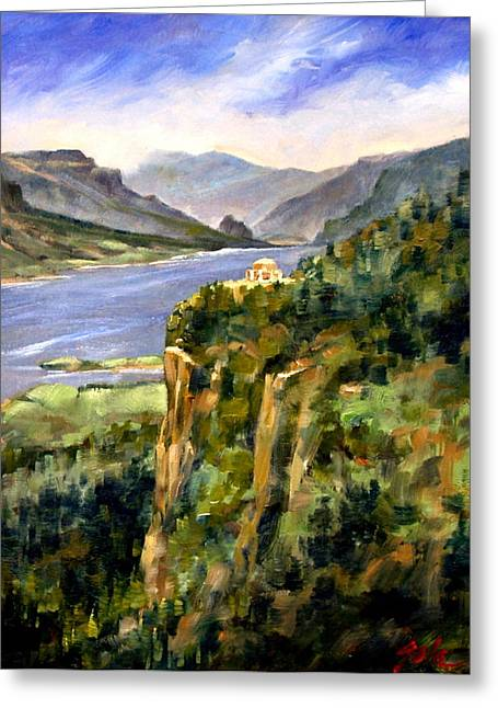 Crown Point Oregon Greeting Card