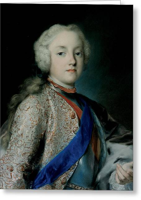 Crown Prince Friedrich Christian Of Saxony Greeting Card by Rosalba Carriera