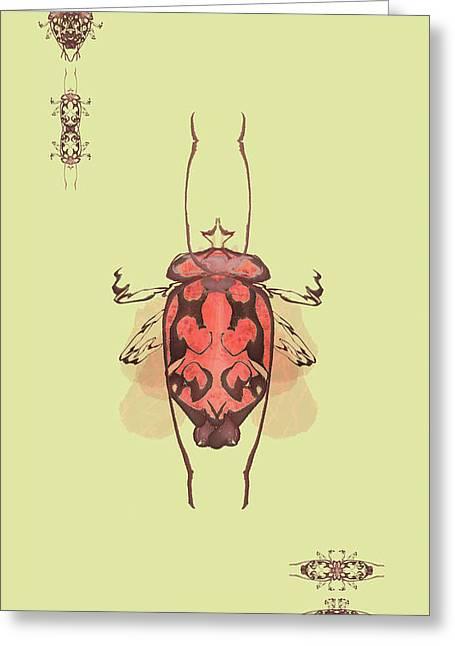 Crowned Horn Bug Specimen Greeting Card