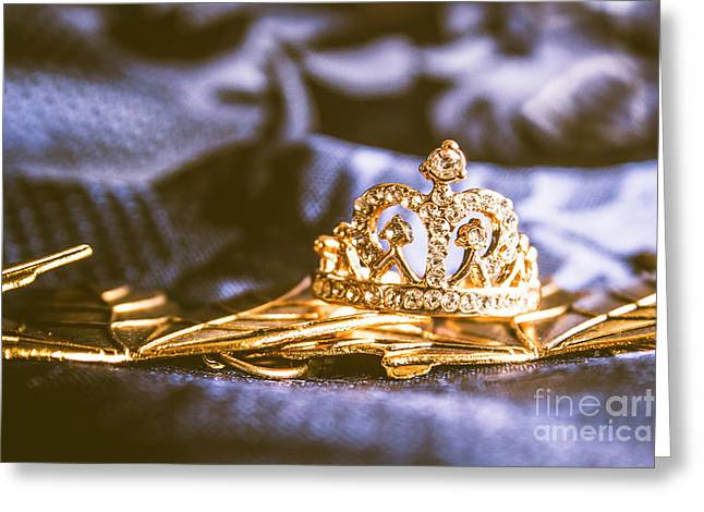 Crowned Tiara Jewellery Greeting Card