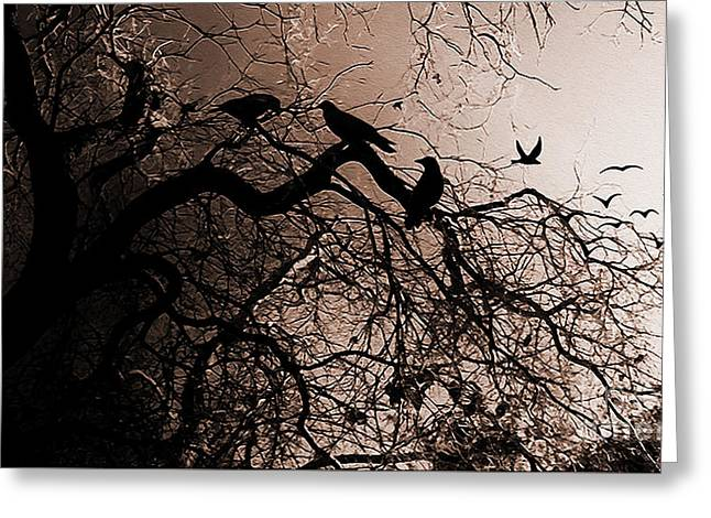 Crows 9 Greeting Card