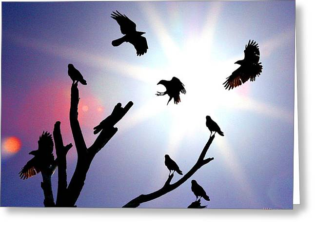 Crows Nest Greeting Card by W Gilroy