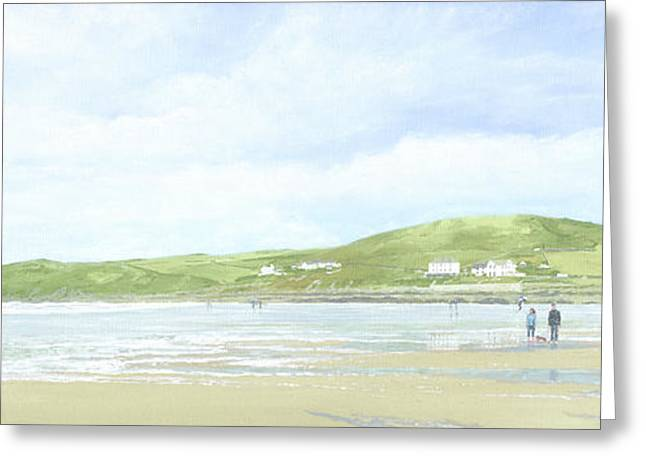 Croyde Beach And Baggy Point Greeting Card