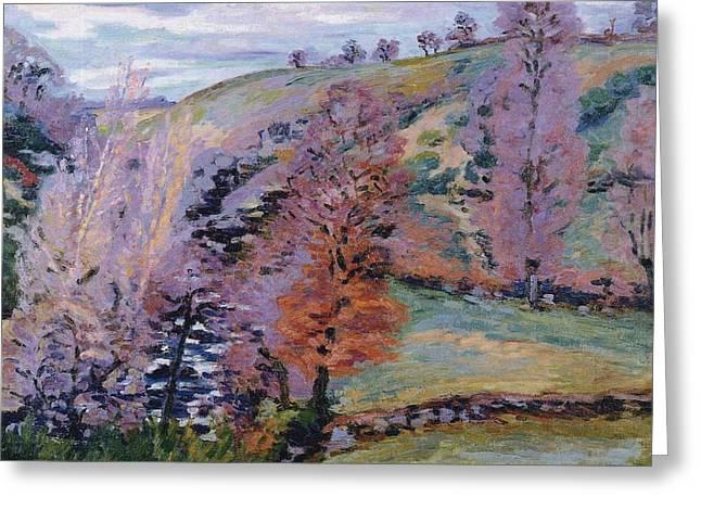 Crozant Landscape Greeting Card
