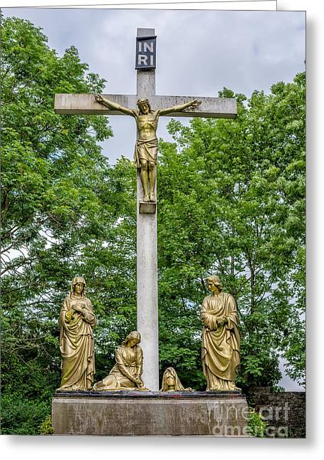 Crucified Greeting Card by Adrian Evans