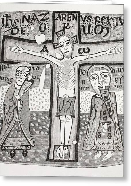 Crucifixion Of Jesus Christ. After A Greeting Card by Vintage Design Pics