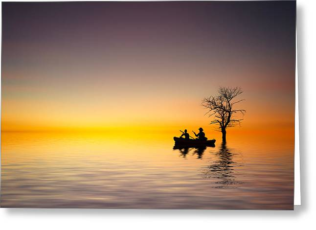 Greeting Card featuring the pyrography Cruise by Bess Hamiti