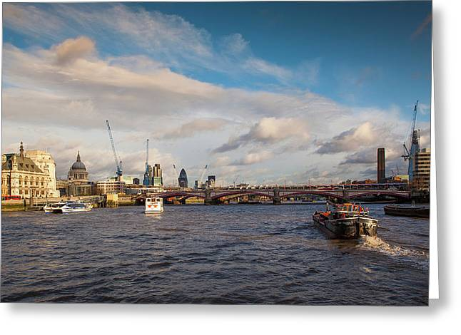 Cruise On The Thames Greeting Card