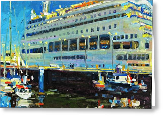 Cruise Ship Greeting Card by Brian Simons