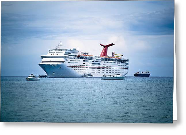 Cruise Ship On The Ocean Greeting Card