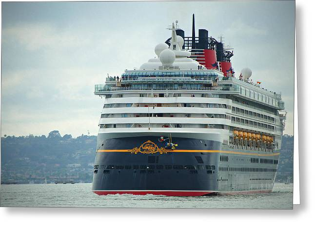 Cruise Ship- Wonder Greeting Card by See My  Photos
