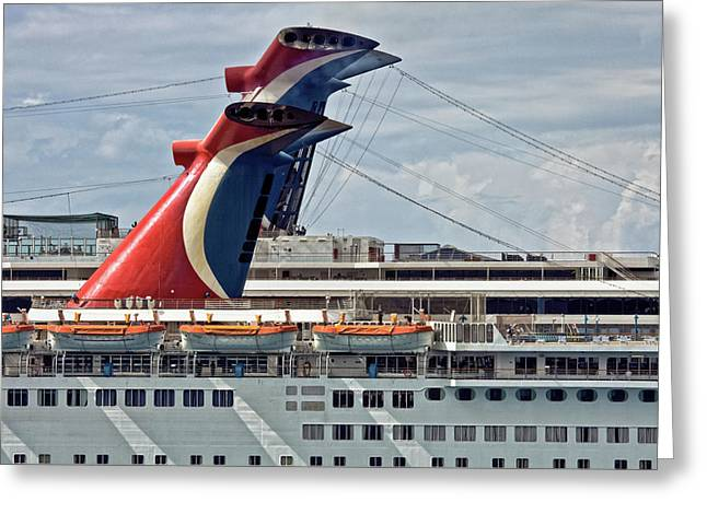 Cruise Ships In Cozumel, Mexico Greeting Card
