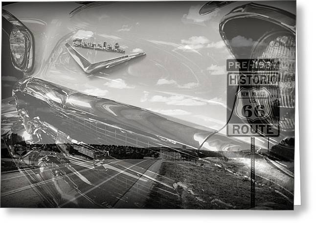 Cruisin Route 66 Greeting Card