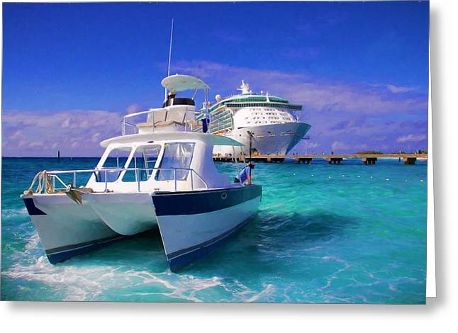 Cruising Blues Greeting Card by Alice Gipson