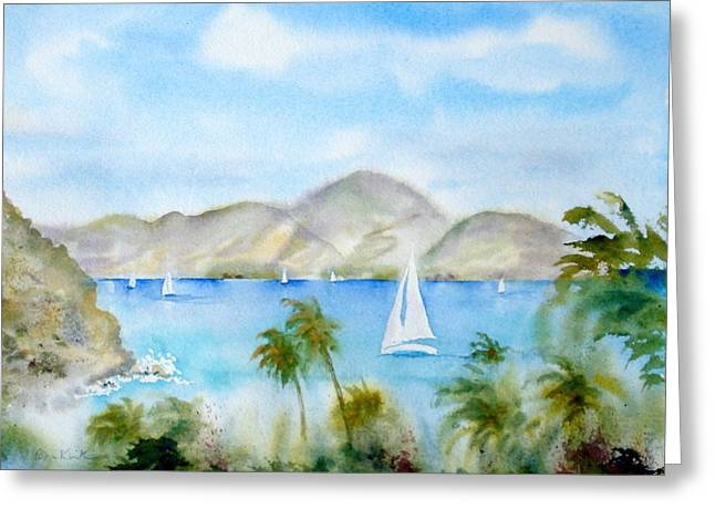 Cruising In The Caribbean Greeting Card