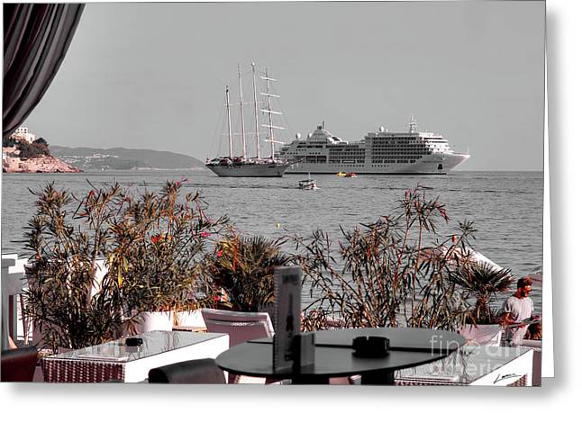 Cruising Past And Present Greeting Card