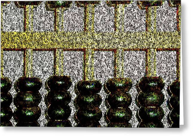 Greeting Card featuring the photograph Crunching Numbers On An Ancient Chinese Abacus 20161115 Square by Wingsdomain Art and Photography