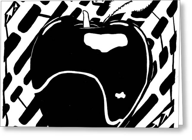 Cruncy And Delicious Maze Of Apple Greeting Card by Yonatan Frimer Maze Artist