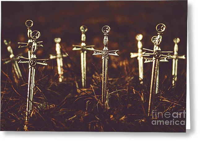 Crusaders Cemetery Greeting Card by Jorgo Photography - Wall Art Gallery