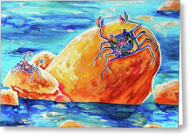 Crustacean Duo  Greeting Card by Marika Segal