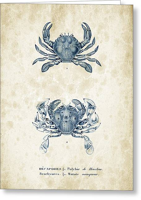 Crustaceans - 1825 - 05 Greeting Card by Aged Pixel