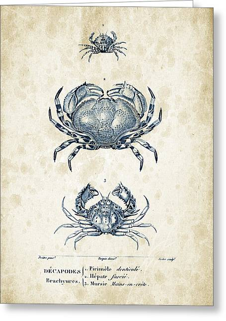 Crustaceans - 1825 - 07 Greeting Card by Aged Pixel