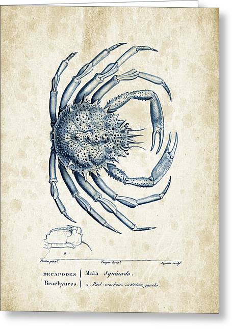 Crustaceans - 1825 - 19 Greeting Card by Aged Pixel