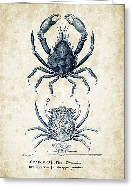Crustaceans - 1825 - 20 Greeting Card by Aged Pixel