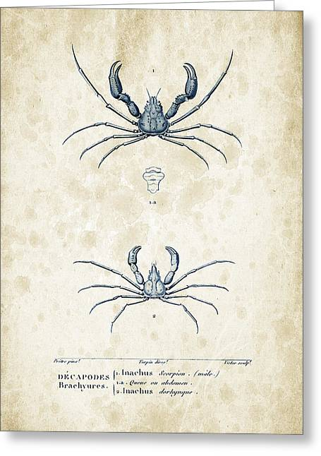 Crustaceans - 1825 - 22 Greeting Card by Aged Pixel