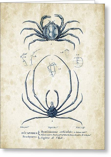 Crustaceans - 1825 - 24 Greeting Card by Aged Pixel
