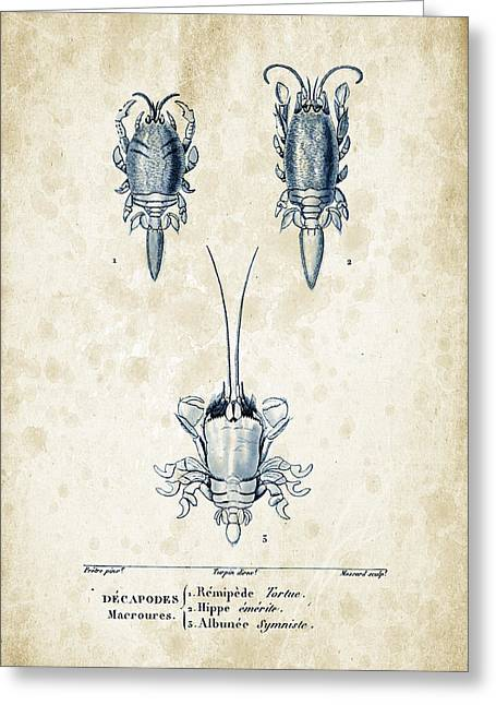 Crustaceans - 1825 - 27 Greeting Card by Aged Pixel