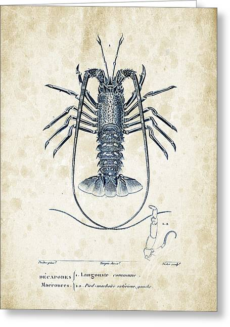 Crustaceans - 1825 - 30 Greeting Card by Aged Pixel