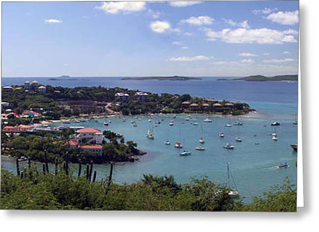 Cruz Bay Greeting Card by Gary Lobdell