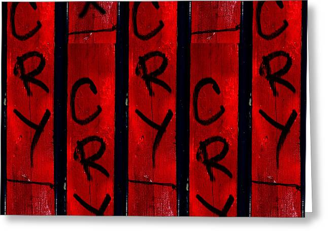 Cry With A Ribbon Greeting Card by Taylor Steffen SCOTT