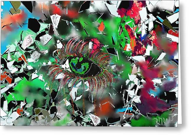 Crying Eye Greeting Card by Ricardo Mester