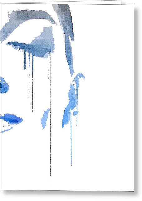 Greeting Card featuring the digital art Crying In Pain by ISAW Company