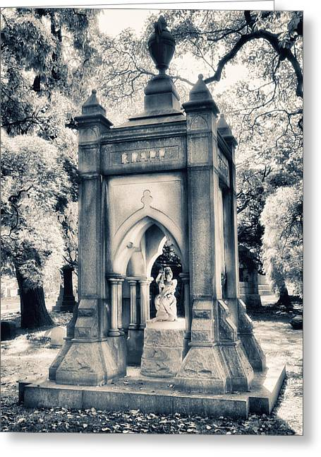 Crypt At Woodlawn II Greeting Card by Jessica Jenney