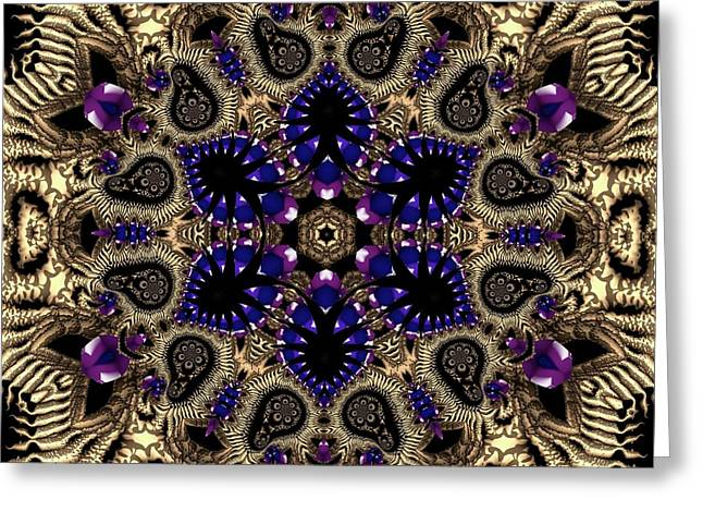 Greeting Card featuring the digital art Crystal 61345 by Robert Thalmeier