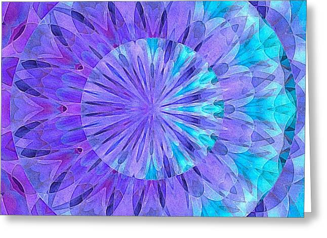 Crystal Aurora Borealis Greeting Card