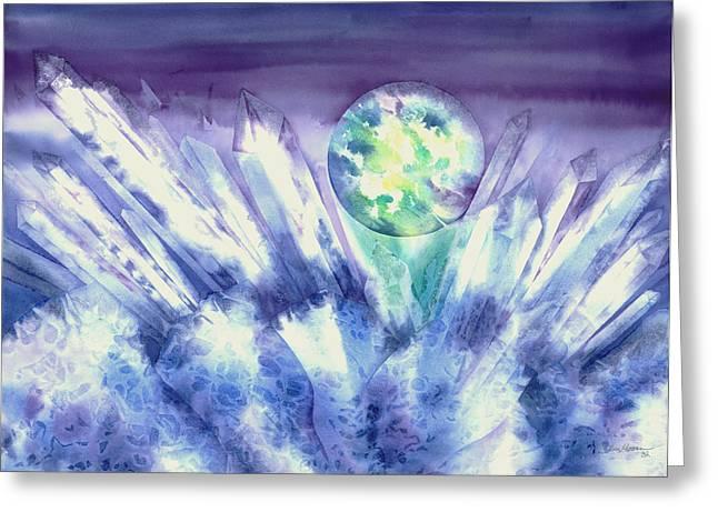 Crystal Awakening Greeting Card