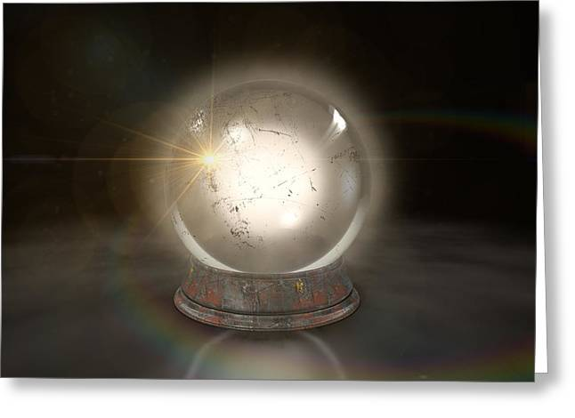 Crystal Ball Glowing Greeting Card