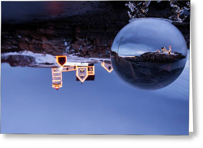 Greeting Card featuring the photograph Crystal Ball Nubble by Chris Babcock