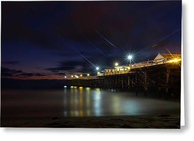 Crystal Beach Pier Blue Hour  Greeting Card