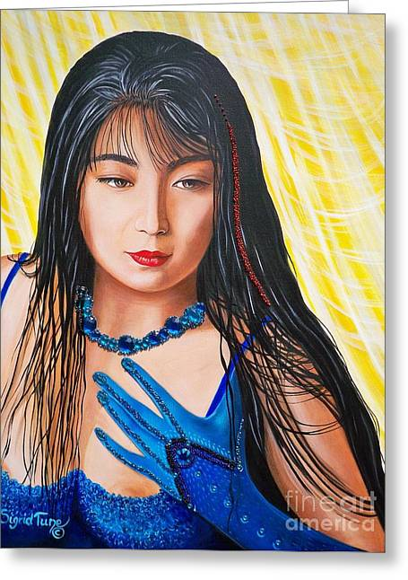 Crystal Blue China Girl            From   The Attitude Girls  Greeting Card