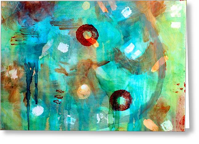 Crystal Blue Persuasion Greeting Card by Shelley Graham Turner