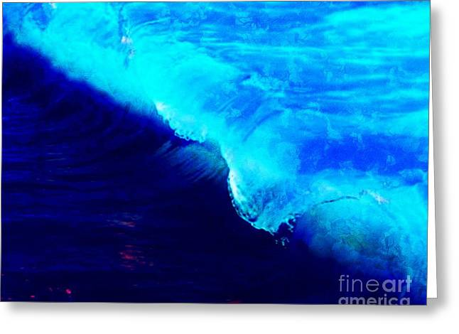 Crystal Blue Wave Painting Greeting Card