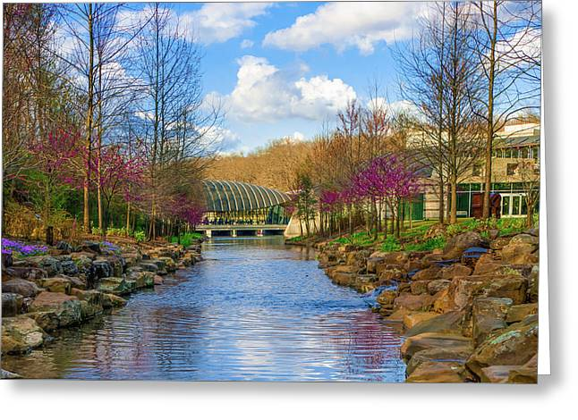 Crystal Bridges In Spring And Blue Skies Greeting Card by Gregory Ballos