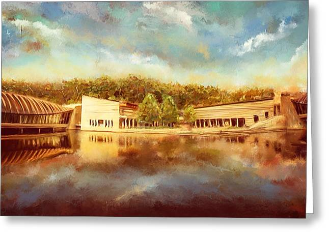Crystal Bridges Museum Of American Art Greeting Card by Lourry Legarde